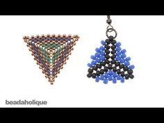 How to Bead Weave a Triangle Using Peyote and Herringbone Stitches - #Seed #Bead #Tutorials