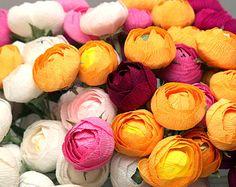Papierblumen Pfingstrosen Hochzeitsblumen Papier