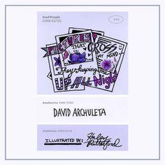 Here is a #paintswatch #lyrics #illustration of the new single #UpAllNight by #davidarchuleta I've always loved his #voice + #music 🎶 The #colors are Iced Purple 💜 Amethyst Ice 🌌 & Orchid Lane ✳ #art #artist #lyricseries #lyricart