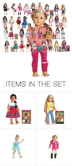 """American girl dolls"" by abuffaloe on Polyvore featuring art"