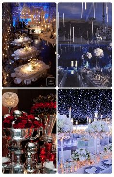 Winter Is Coming: Tips on Planning a Winter Wedding -Candles from the ceiling like in Harry Potter!
