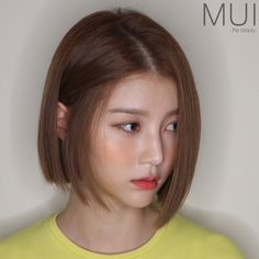 Image may contain: 1 person Hair Lights, Light Hair, Asian Short Hair, Girl Short Hair, Short Hair Cuts, Korean Short Haircut, Asian Bob Haircut, Medium Bob Hairstyles, Korean Hairstyles