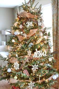 74d394351cf burlap and grapevine Christmas tree! by regina Grapevine Garland