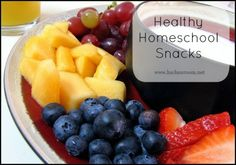 Healthy Homeschool Snacks by @Kris Bales at @HSClassroom