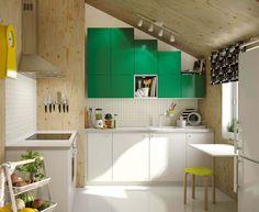 Ikea-Küche mit Dachschräge, Ikea