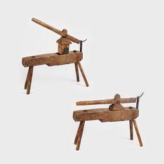 Instalaţie tradiţională din lemn, pentru sfărâmat cartofi, Maramureş, sec. XIX