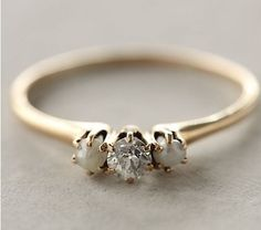 diamond and pearl wedding ring-- definitely need a pearl wedding ring