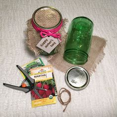 Attention makers: Create this easy DIY garden seed kit for Mom. It has pruning snips, seeds and gardening gloves in a reusable green tinted mason jar. See more about this, and other Mother's Day ideas on The Home Depot's Garden Club.