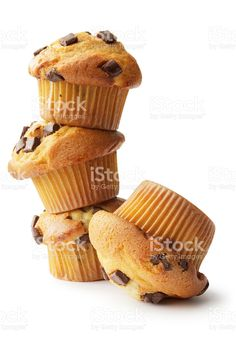 Pastry: Muffins Isolated on White Background royalty-free stock photo