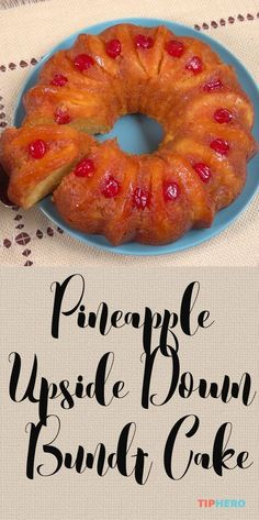 Pineapple Upside Down Bundt Cake Recipe | Pineapples, cherries, yellow cake mix, and vanilla pudding mix come together perfectly in this tropical inspired dessert. Perfect for summer gatherings! Click to watch how easily it all comes together - it'll make you look like a pro in the kitchen! #baking #desserts #cakes #homecooking #yum