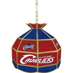 "NBA Cleveland Cavaliers Tiffany Gameroom Lamp, 16"" by Trademark Gameroom. NBA Cleveland Cavaliers Tiffany Gameroom Lamp, 16."