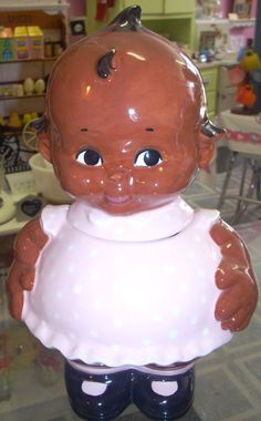 Cute Kewpie doll cookie jar www.jazzejunque.com