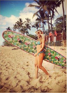 Surf girl... Love that board!