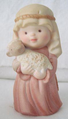 "1987 AVON ""Heavenly Blessings"" Nativity Little Shepherd Boy Porcelain Figurine by TimesGoneByFinds on Etsy"