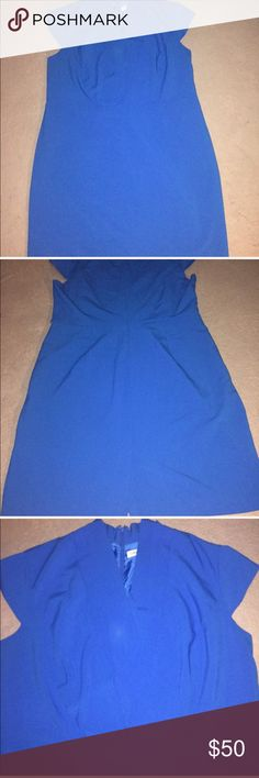 CALVIN KLEIN WOMEN'S PLUS SIZE DRESS.  SIZE 20W Part Of Slip Inside Dress Need Repairing.  Belt  Loop On Dress No Belt Include With This Item.  Please Read My Listing And View My Pictures Before You Purchase Item.  ITEM SOLD AS IS.  BEST OFFER ACCEPTED Calvin Klein Dresses