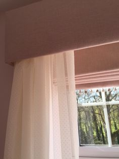 Pelmet with dress voile and blackout roman blind for a young girls bedroom - #designedbyjustso #girlsbedroom #interior