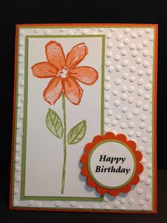 Garden in Bloom, Birthday Card, Stampin' Up!, Rubber Stamping, Handmade Cards