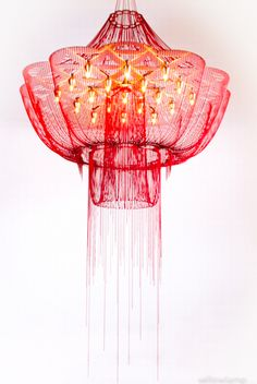 """Flower of Life"" chandelier by Adam Hoets for Willowlamp"