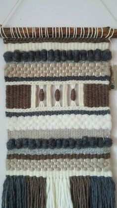 Weaving Loom Diy, Weaving Art, Weaving Patterns, Tapestry Weaving, Hand Weaving, Stitch Patterns, Knitting Patterns, Weaving Wall Hanging, Weaving Projects