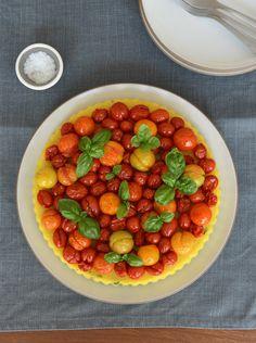 Recipe: Polenta and Roasted Cherry Tomato Tart