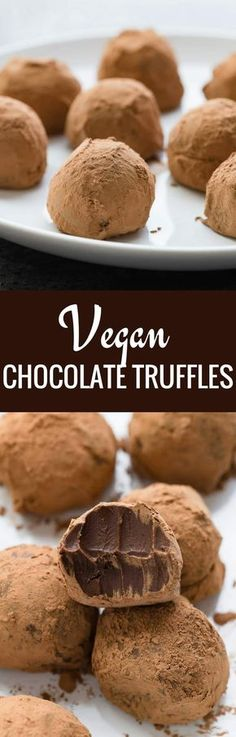 Rich, decadent Vegan Chocolate Truffles that will curb any sweet tooth!--Full recipe on bakedbyanintrovert.com #vegan #chocolate #truffles #dessert