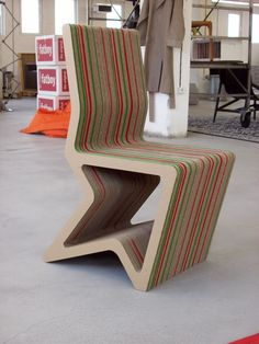 Cardboard furniture by Konstantin Achkov at Coroflot.com