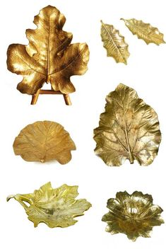 Gorgeous brass leaves.