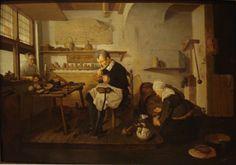 Quiringh Gerritsz van Brekelenkam (1622-1668), La bottega del calzolaio (Shoemaker's Shop), 1660 ca., Pasadena, Norton Simon Museum, oil on panel, cm 59.4x82.6 #shopinart