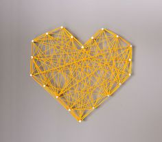 Design Cake Love: DIY: Threaded Heart Wall Art