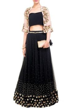 Exclusive Designer Lehenga Choli Black
