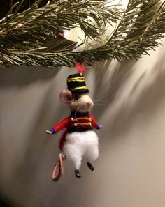 Needle felted mouse Needle Felted Animals Needle by DreamsLab3