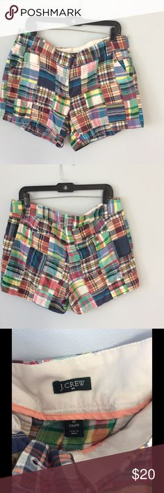 J Crew Madras Shorts Size 14 Love these! Perfect summer short! J. Crew Shorts Bermudas