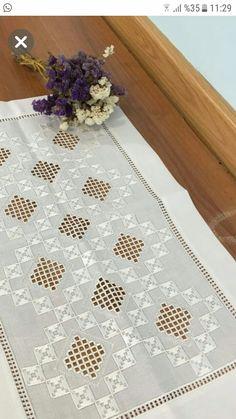 Eleni Kavvadia Drakopoulou's media content and analytics Hardanger Embroidery, Silk Ribbon Embroidery, Hand Embroidery, Hand Crochet, Crochet Lace, Fillet Crochet, Brazilian Embroidery, Point Lace, Crochet Borders