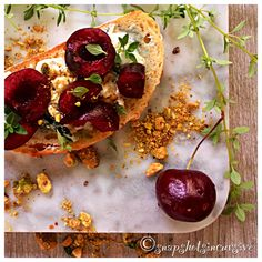 Nutty Cherry Crostini