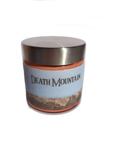Awesome Home made Soy wax candles with Video Game themes. This one is Death Mountain, inspired by The Legend Of Zelda's Ocarina Of Time. ScentedSparks.etsy.com Best Candles, Soy Wax Candles, Game Themes, Candels, Coffee Cans, Video Game, Death, Mountain, Homemade