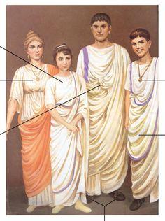 Roman clothing, upper class.