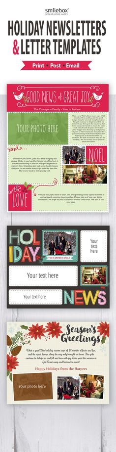 If your going to do a family newsletter this is the best way - holiday newsletter template