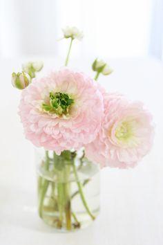 pretty simple pink arrangement   |   via Pause Gourmande en Provence