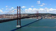 Pont du 25 Avril, Lisbonne - #Portugal #Lisbonne #Pont