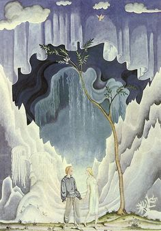 Kay Nielsen - Illustrations for Andersen's Fairy Tales: Kay and Gerda, The Snow Queen