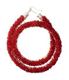 Junction Art Gallery - Handstitched garnet coiled necklace £1,392.00 www.junctionartgallery.co.uk