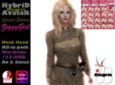 [❤]]ZiggyGirl HybriD Limited Edition AvataR Mesh Head + Wardrobe 123
