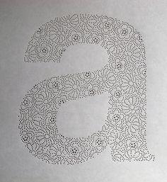 Helvetica Lace by Anna Farkas on Behance