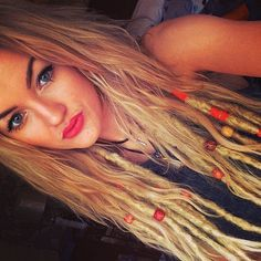 10 Light Blonde Knotty Synthetic Dread Extensions. by IconicLocks