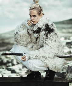 Photo Aymeline Valade by Boo George for Vogue Japan January 2015