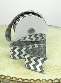 White chevron ribbon