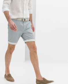 ZARA | Printed Bermuda Shorts with Belt