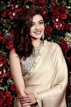 Kajal Aggarwal Beautiful Girl Indian, Beautiful Indian Actress, Beautiful Actresses, New Saree Designs, Blouse Designs, Hot Actresses, Indian Actresses, Kajal Agarwal Saree, Girl Couple