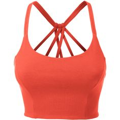 LE3NO Womens Fitted Halter Cut Out Back Bralette Crop Top ($11) ❤ liked on Polyvore featuring tops, red bustier, bustier crop top, fitted crop top, halter neck tops and crop top