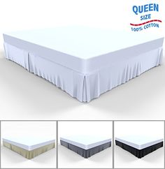 Bed Skirt by Royal - 100% Natural Cotton - Luxurious 4 Side Pleated Skirt that is Durable and Easy to Wash (Queen, White) Royal http://www.amazon.com/dp/B014ZXLHVI/ref=cm_sw_r_pi_dp_eOz8wb0MWAGH2